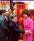 Secretary of Labor Elaine Chao in San Francisco Chinatown