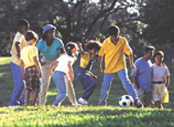 American kids playing soccer. (U.S. National Park Service)