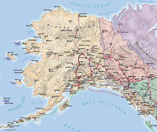 About the USA Travel Geography Alaska